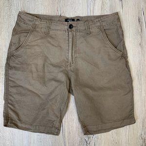 Union Denim Men's Brown Linen Shorts